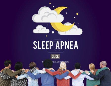 Diverse People and Sleep Apnea Concept