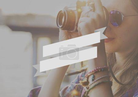 girl making photos, inspire concept