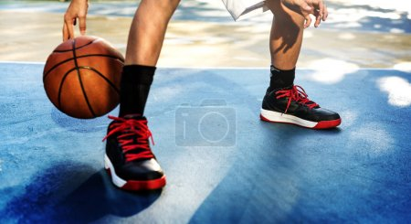 Sportsman playing Basketball