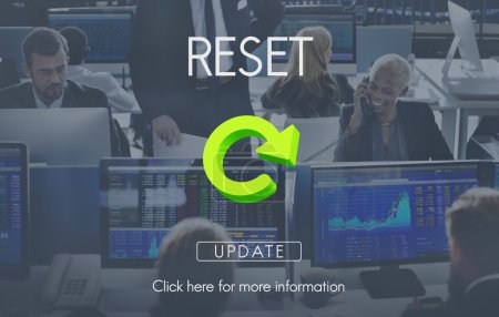 business people working and reset