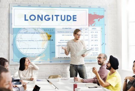 business meeting with longitude