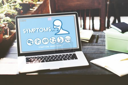 screen with text :Symptoms