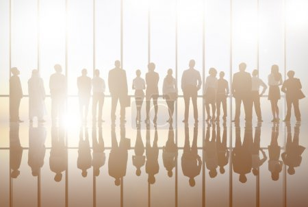 Silhouettes of Business group
