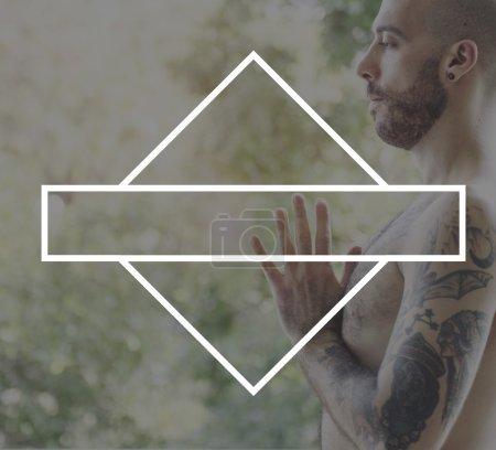 Man doing Yoga Practice