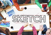Designers Working with Sketch Design