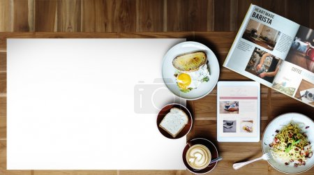 Breakfast, Food at Cafe Concept