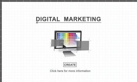 template with Digital Marketing concept