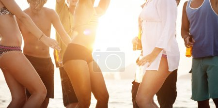 group of friends at Summer Beach Party