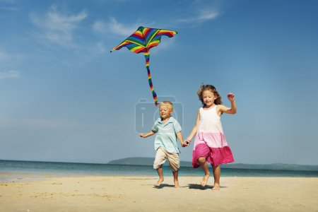 Happy kids playing together