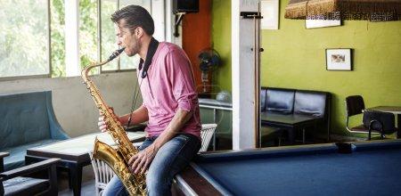 Jazzman Playing Saxophone