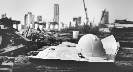 Construction Worker Planning Concept