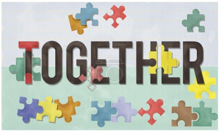 template with together concept