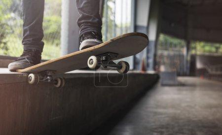 Man ride on Skateboard