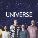 Постер, плакат: diversity people with universe