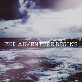 Text:The adventure begins on background