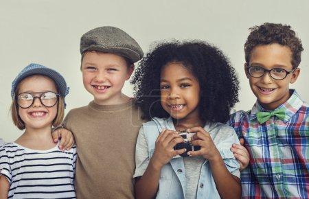 sincere joyful kids Have Fun