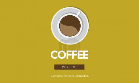 template with coffee concept