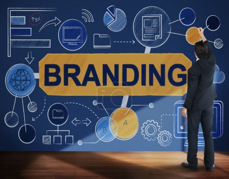 Man working with Branding Concept