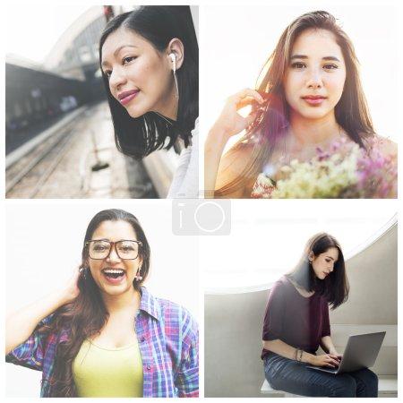 Diversity beautiful women