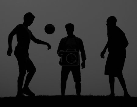 People playing in Football