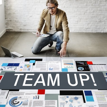 businessman working with Team Up