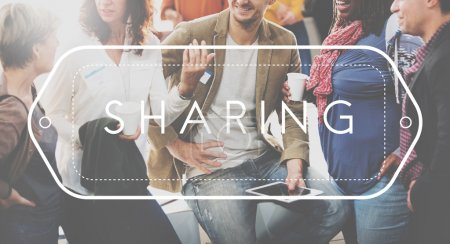 people discussing Sharing