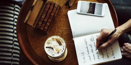 Writing Diary To Do List  Concept