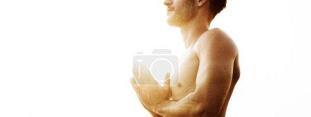 man doing Yoga Meditation