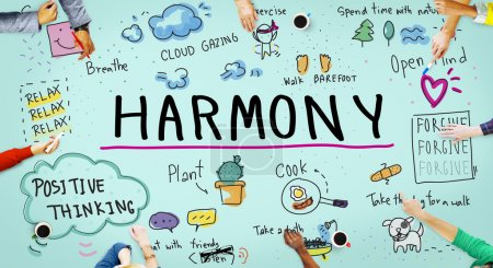 Business People Pointing on harmony
