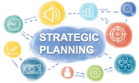 template with Strategic Planning concept