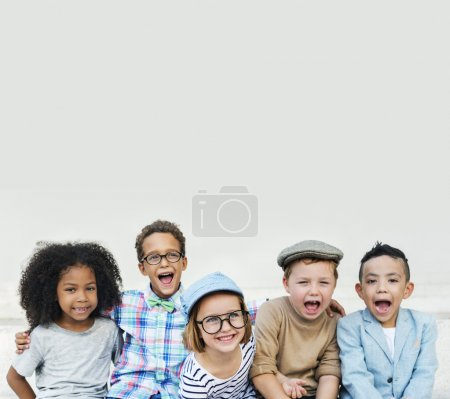 Kids laughing and have fun