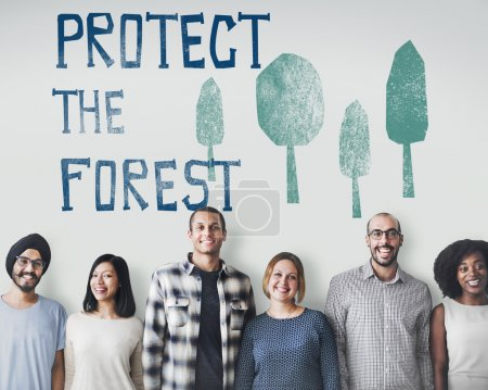 diversity people with Protect The Forest