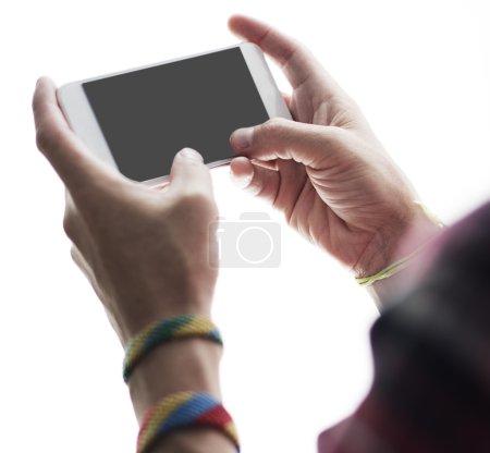 Man holding Smart phone