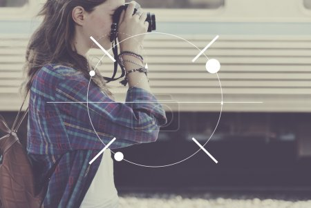 woman making photos