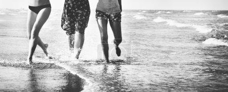 Friends on summer beach