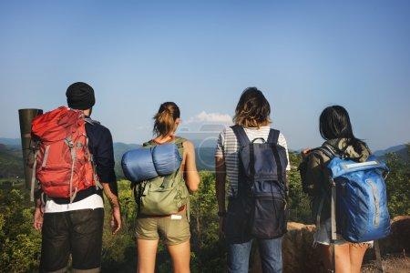 best friends trekking together