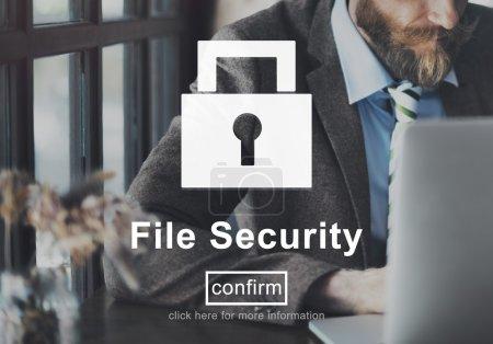 File Security  Concept.