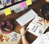 Woman drawing in design studio