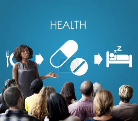 People at seminar with health
