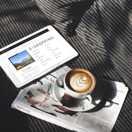 newspaper and Digital Tablet