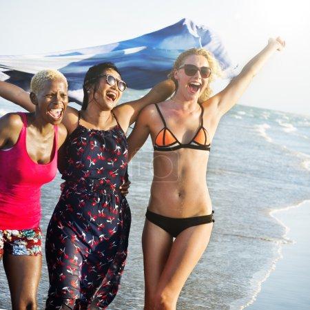 Three happy young women