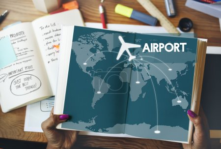 book with text airport