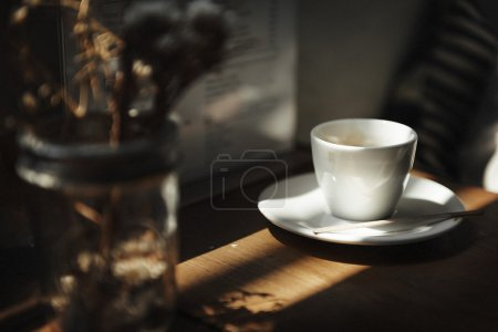 White Coffee Cup and decoration