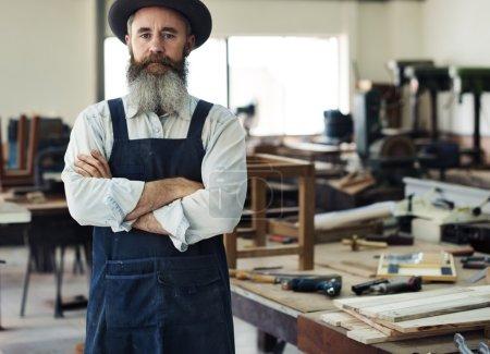 handsome Craftsman in Workshop