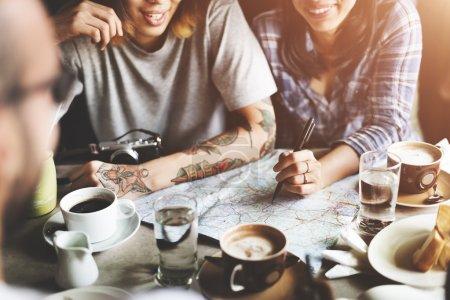 Best friends in cafe