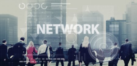 Business People and Network Concept