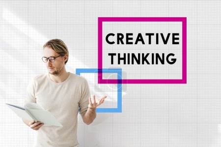 businessman working with creative thinking