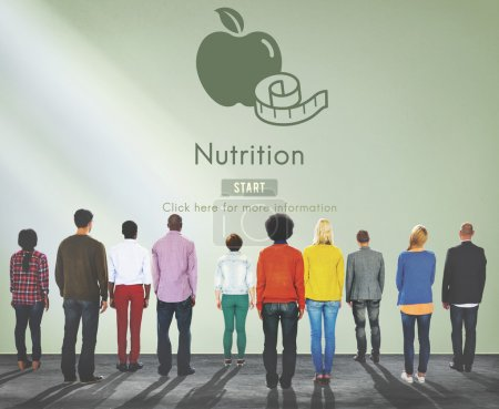 Multiethnic People and Nutrition Concept