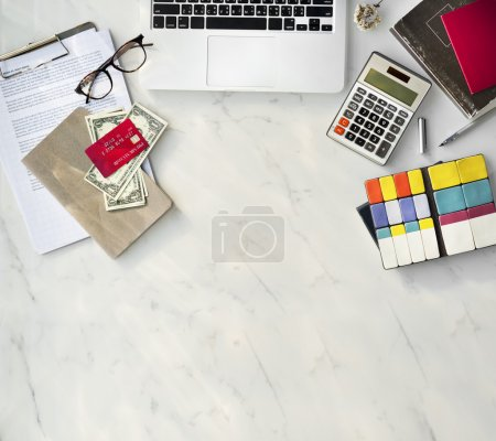 Contemporary working space at office