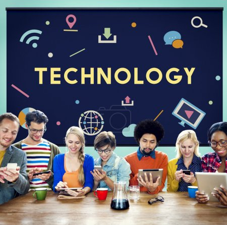 Diversity People and Technology Concept